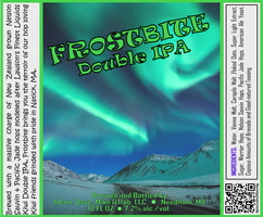 FROSTBITE Double IPA Bottle Label 4x3.3 inches 01 AB Road