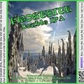 FROSTBITE Double IPA Bottle Label 4x3.3 inches 03 Alpine Trees