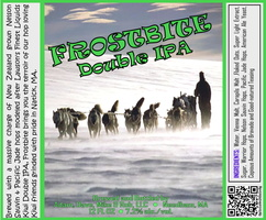 FROSTBITE Double IPA Bottle Label 4x3.3 inches 04 Dogsled