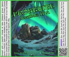 FROSTBITE Double IPA Bottle Label 4x3.3 inches 06 Grotto