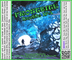 FROSTBITE Double IPA Bottle Label 4x3.3 inches 10 Ice Cave