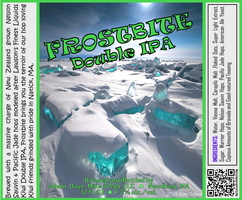 FROSTBITE Double IPA Bottle Label 4x3.3 inches 11 Ice Shelf