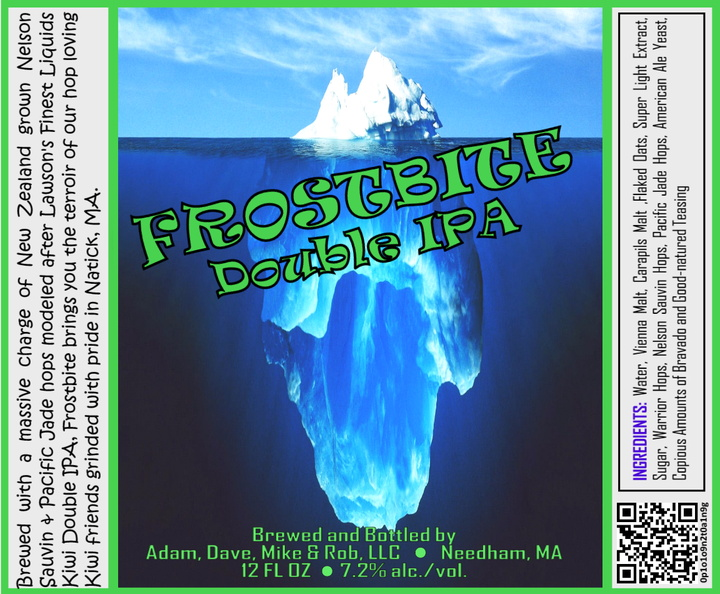 FROSTBITE Double IPA Bottle Label 4x3.3 inches 12 Iceberg.jpg