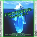 FROSTBITE Double IPA Bottle Label 4x3.3 inches 12 Iceberg