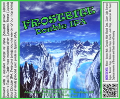 FROSTBITE Double IPA Bottle Label 4x3.3 inches 18 Mountain Ice