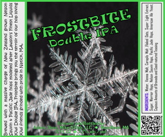 FROSTBITE Double IPA Bottle Label 4x3.3 inches 25 Snowflake