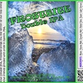 FROSTBITE Double IPA Bottle Label 4x3.3 inches 13 Iced Sunset